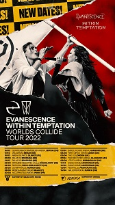 News CONCERTS EVANESCENCE AND WITHIN TEMPTATION PUSH BACK EUROPEAN TOUR TO 2022